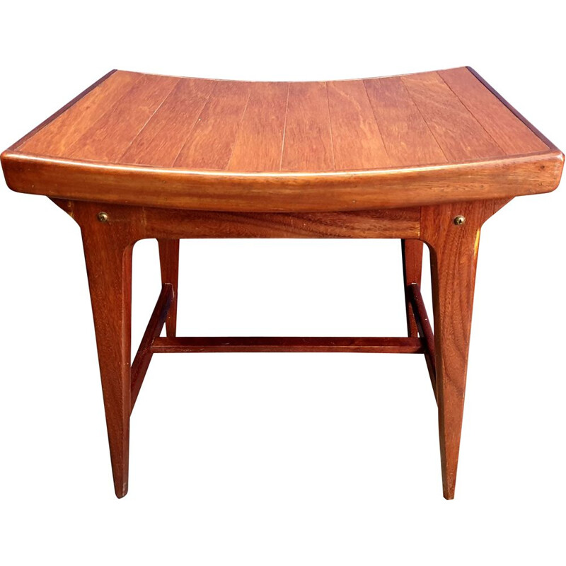 Vintage Teak Dressing Table Stool 1960s