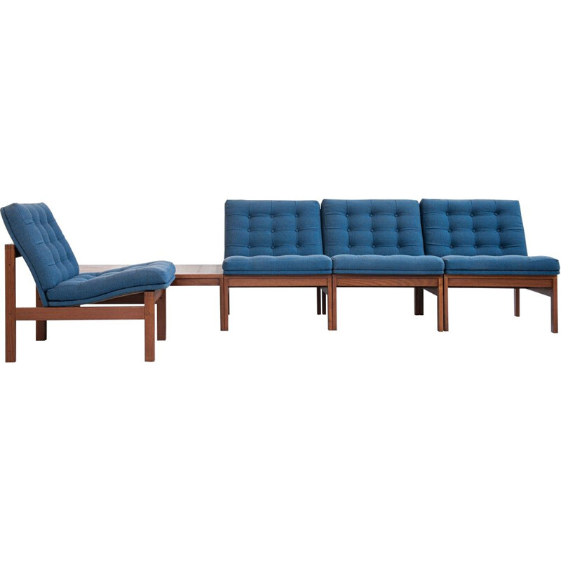 Midcentury corner sofa set in teak by Ole Gjerløv-Knudsen & Torben Lind for France and Søn