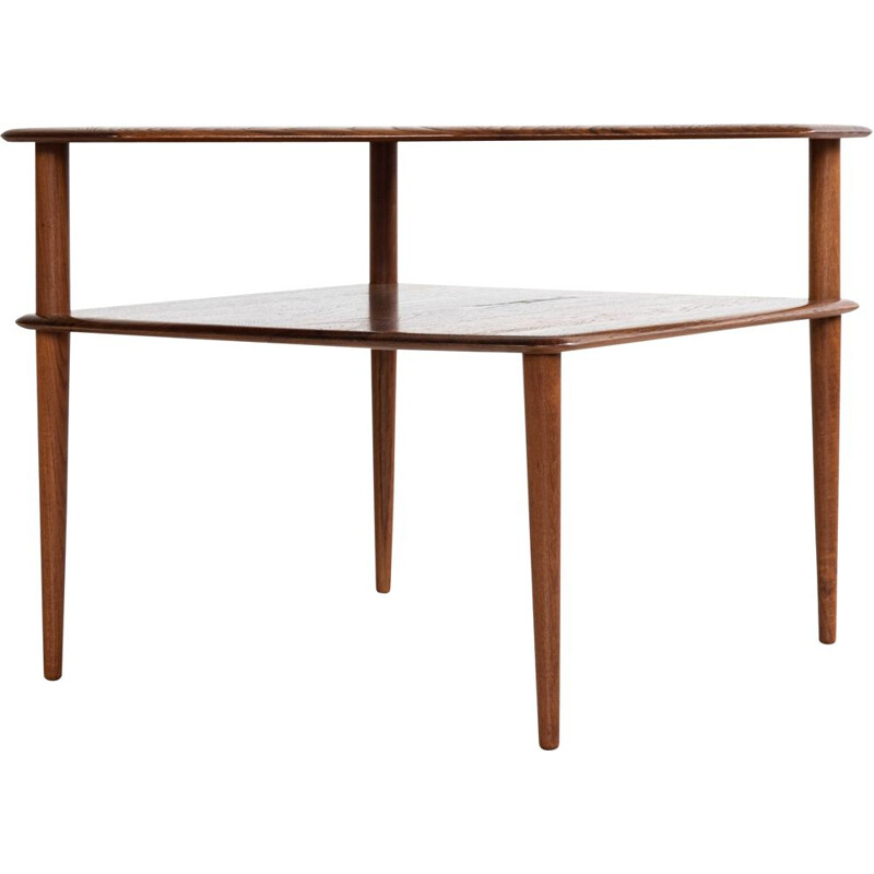 Midcentury Corner Table in Teak by Hvidt & Molgaard for Cado 1960s