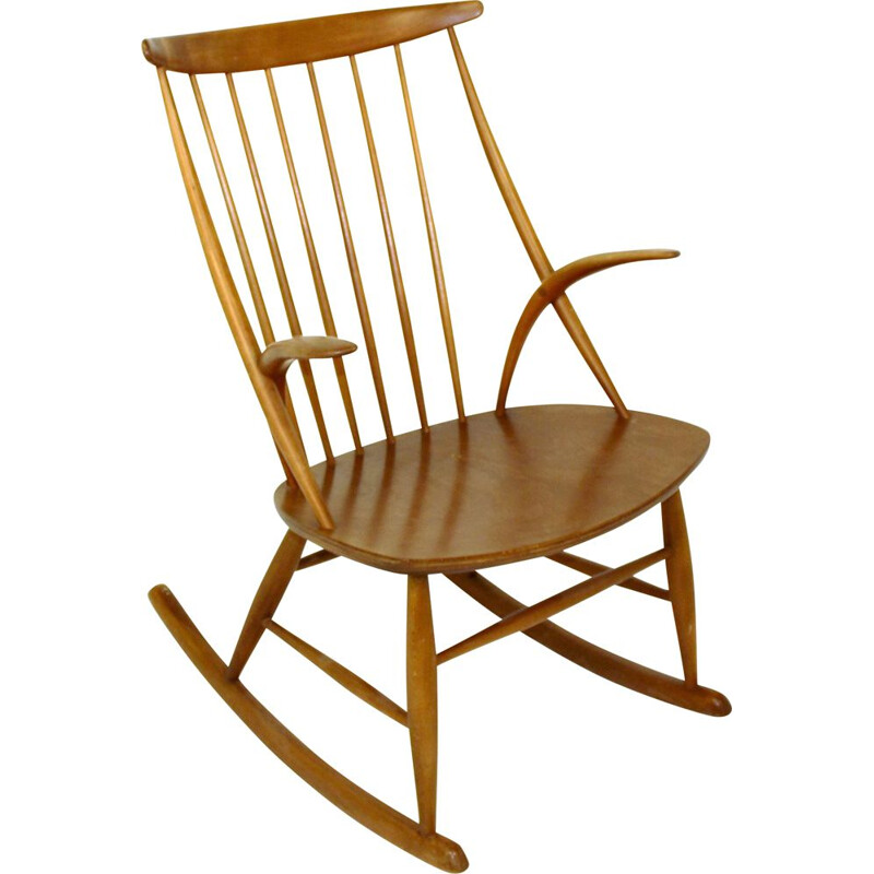 Vintage Rocking-chair N 3, Illum Wikkelsø, Danemark, 1960
