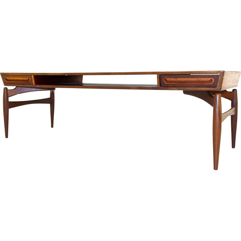 Vintage scandinavian coffee table Johannes Andersen Sweden,1960