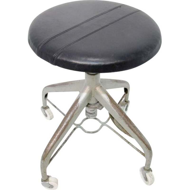Vintage dentist stool Sweden 1950