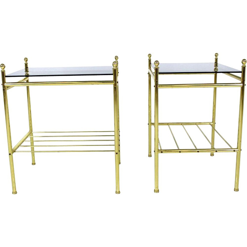 Pair of vintage bedside tables Sweden 1970