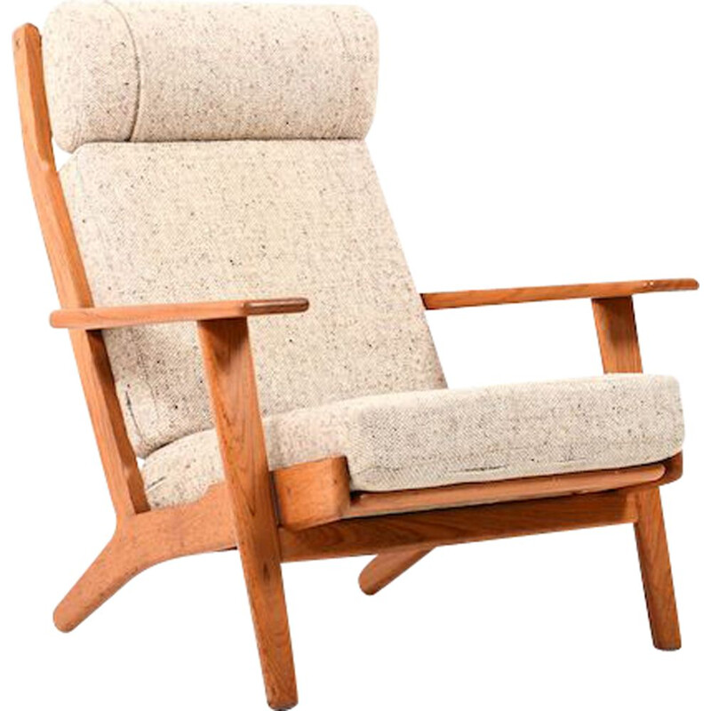 Vintage GE-290 Highback Lounge Chair in Teak by Hans J. Wegner