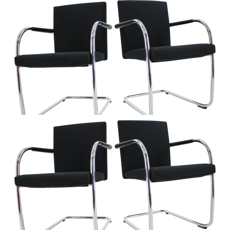 Set of 4 vintage Armchairs Antonio Citterio and Glen Oliver Low, Vitra 1990s