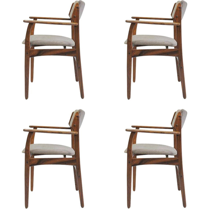 Set of 4 vintage Erik Buch Model 50 Armchairs in Rosewood - Inc. Reupholstery 1960s