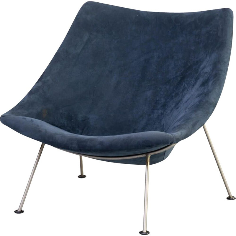 Vintage 'Oyster F157' lounge chair for Artifort Pierre Paulin 1950s