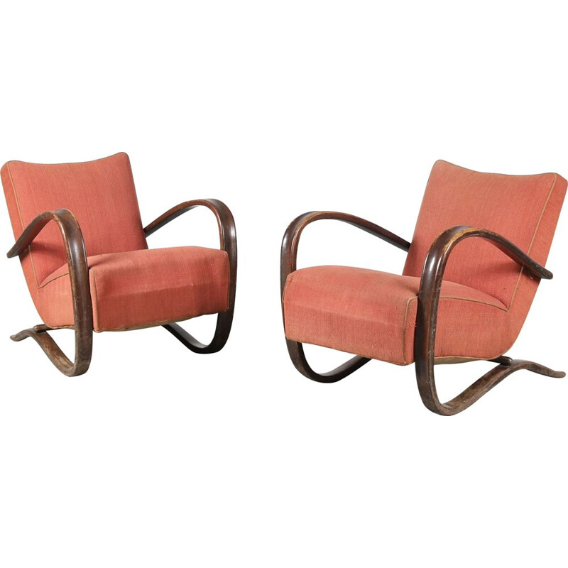 Pair of cintage 'H-269' Chairs for Up Zavody Jindrich Halabala Czech, 1930