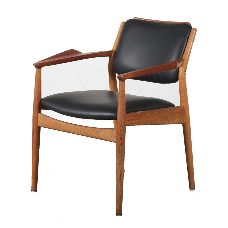 Vintage Teak side chair by Arne Vodder for Sibast, Denmark 1950s