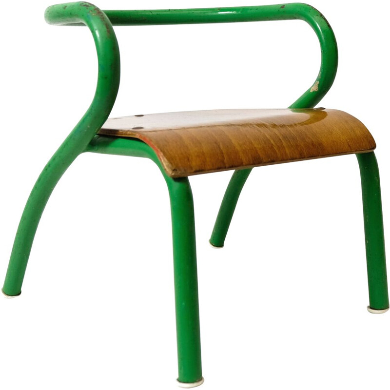 Vintage children's chair for Mobilor, by Jacques Hitier 1940