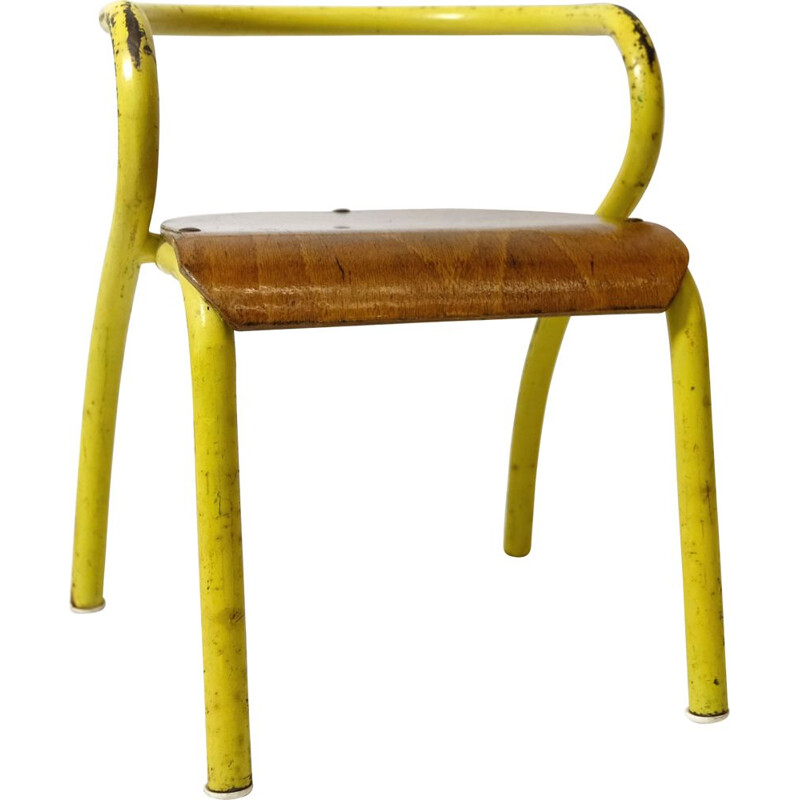 Vintage children's chair for Mobilor by Jacques Hitier1940