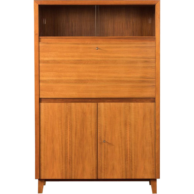 Vintage secretary by Musterring in walnut 1950