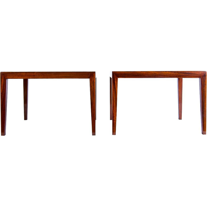 Vintage Severin Hansen Coffee Tables in Rosewood For Haslev, Danish 1960s