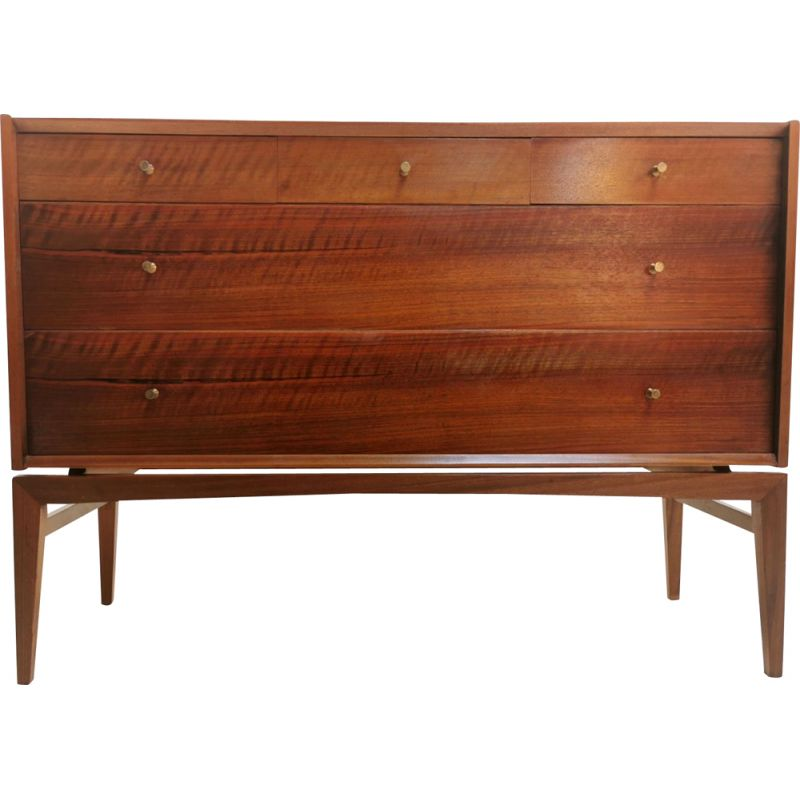 Mid Century Chest of Drawers by John Herbert in French Walnut, 1960s