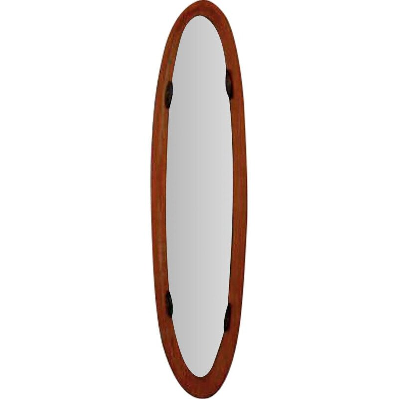 Vintage Mirror in teak by Franco Campo and Carlo Graffi 1950s