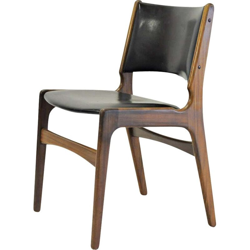 Vintage Danish solid teak chairs Erik Buch Refinished
