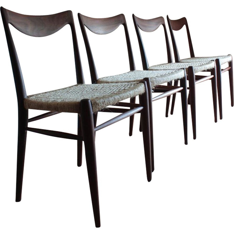 Set of 4 Vintage Chairs model BAMBI by Rastad and Relling Norvege