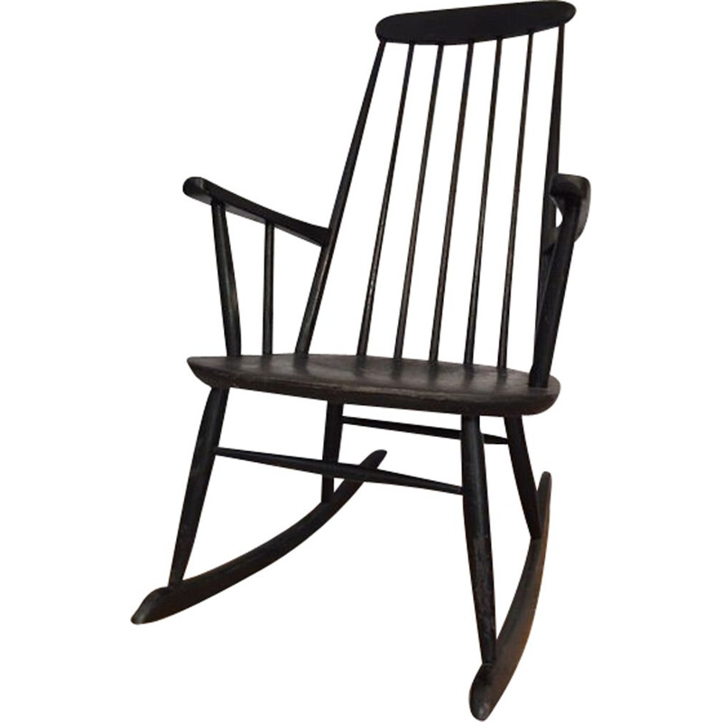 Vintage rocking chair Ilmari Tapiovaara 1960