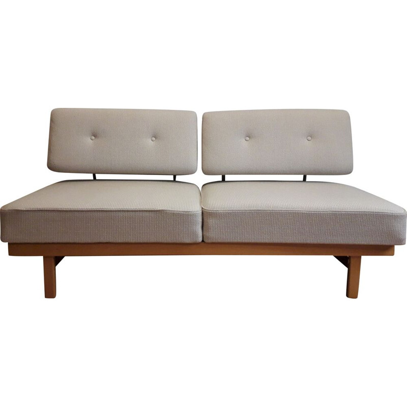 Vintage 2-seater convertible sofa bed. Model 'stella' by wilhelm Knoll for Knoll Antimot Germany 1950