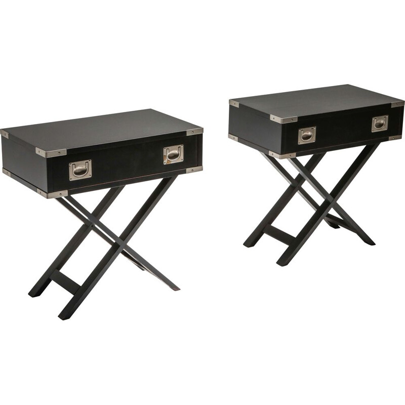 Pair of 'Director' vintage bedside tables 1980