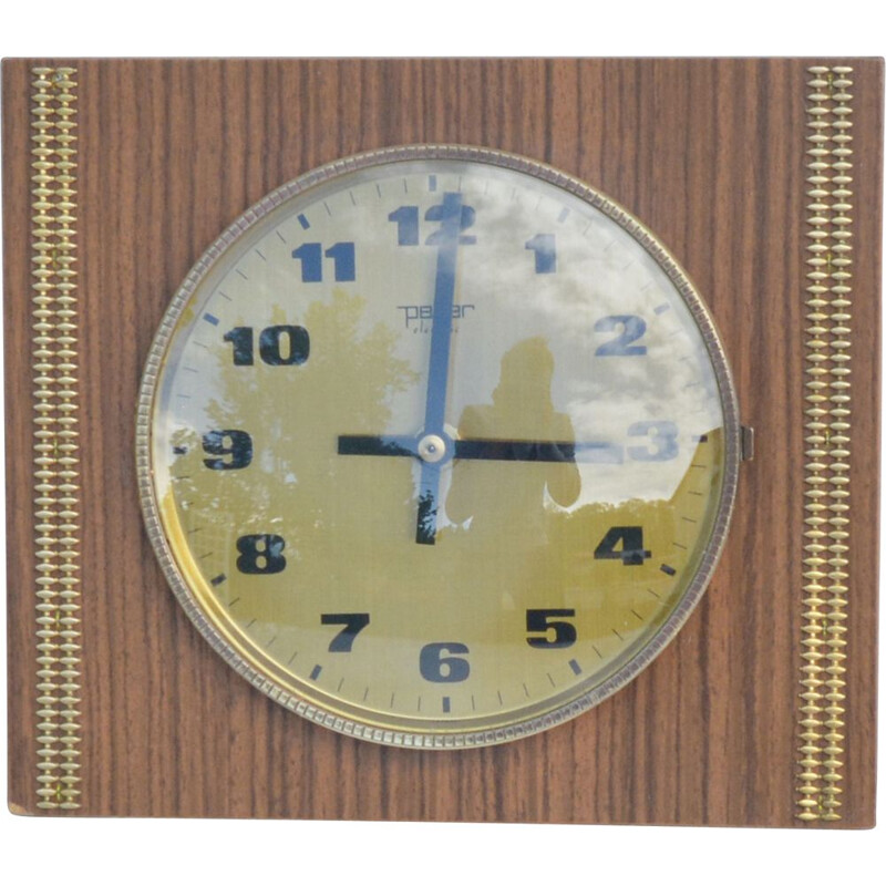 Vintage wall clock by Peter Electric Germany 1970s