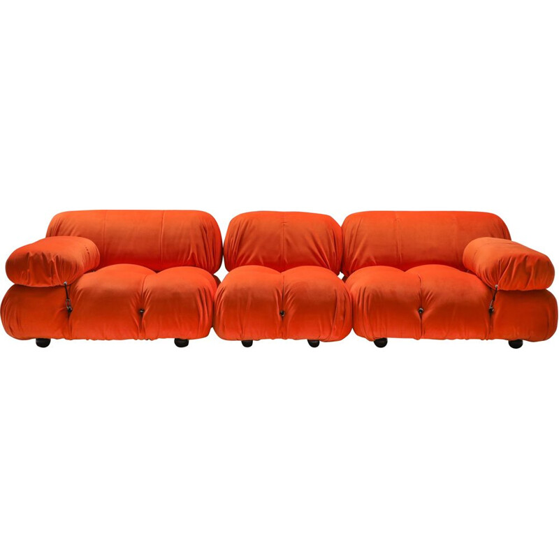 Vintage sectional sofa Camaleonda in bright orange  1970s