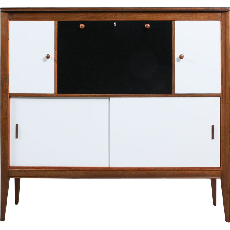 Mid-Century English Black and White Secretaire, 1960s