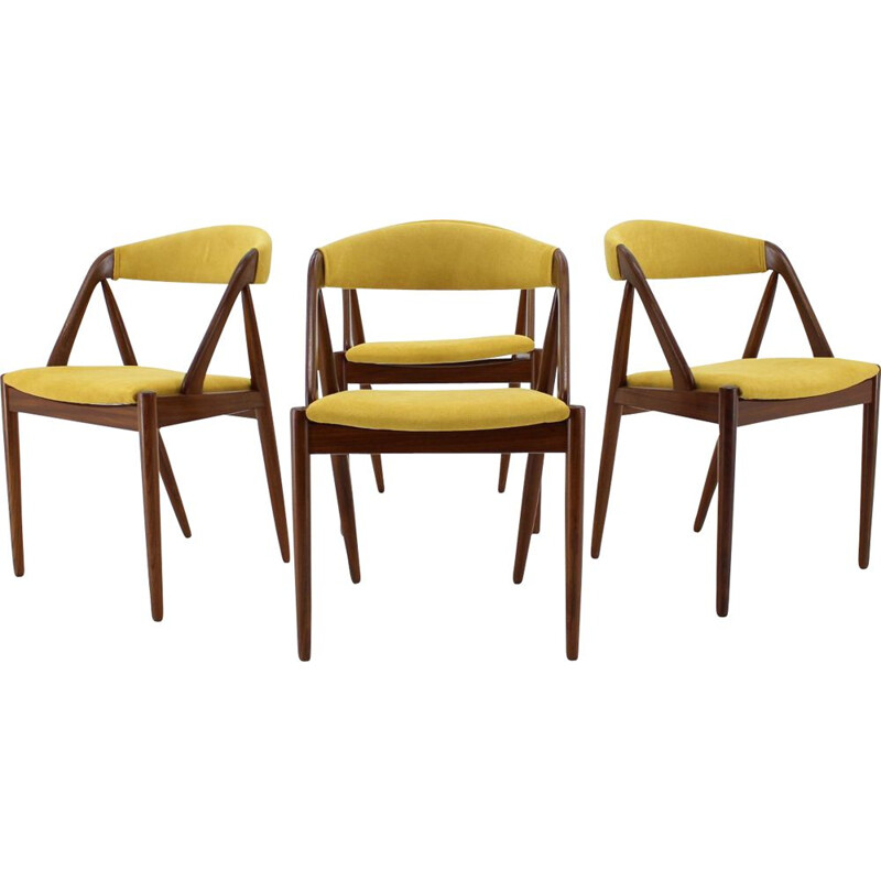 Set of 4 vintage Kai Kristiansen Teak Dining Chairs 1960s