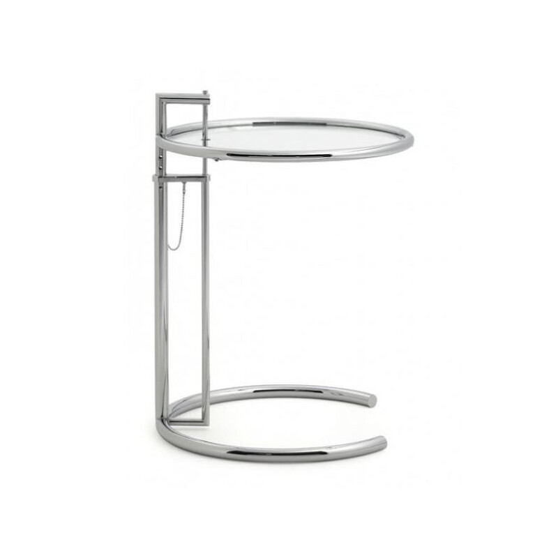 Vintage Side table in Chrome with adjustable height, Eileen Gray