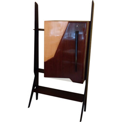 Italian bar and cabinet in lacquered wood, rosewood and formica - 1940s