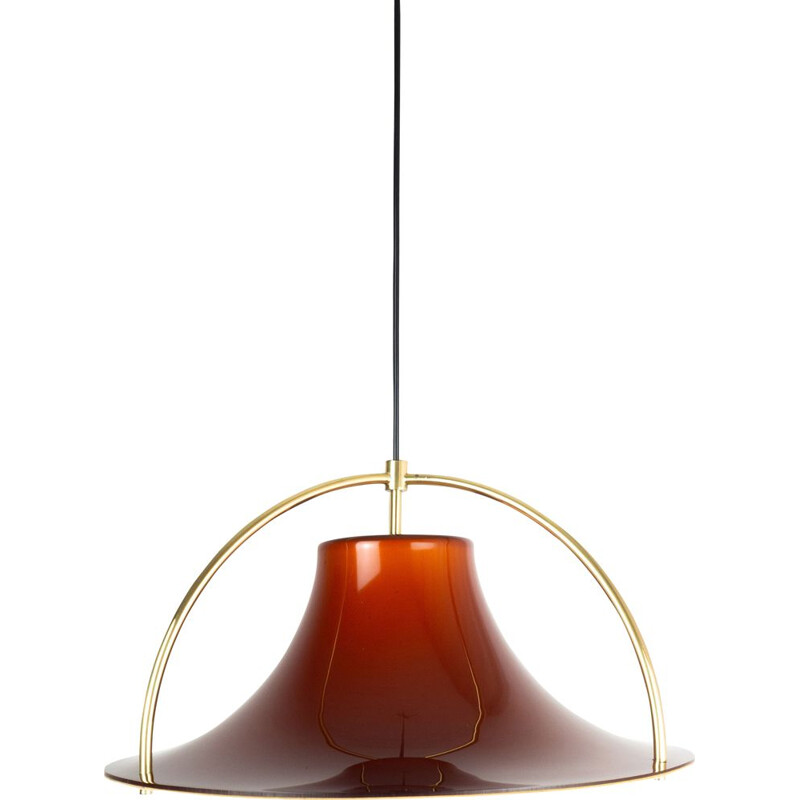 Vintage pendant lamp Single by Jo Hammerborg, Fog og Morup, Danish 1977