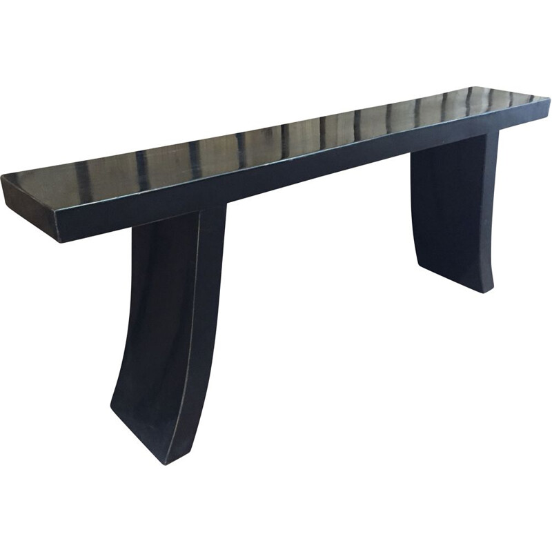 Vintage asian black lacquered console