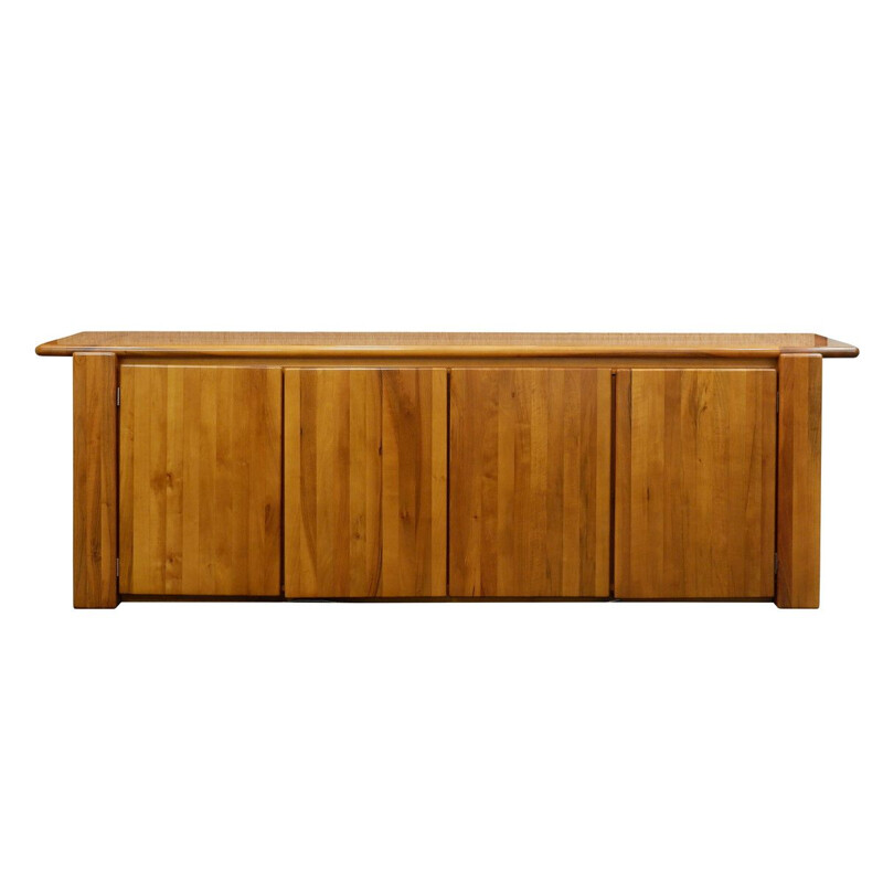 Vintage walnut sideboard by Afra and Tobia Scarpa Italy 1980