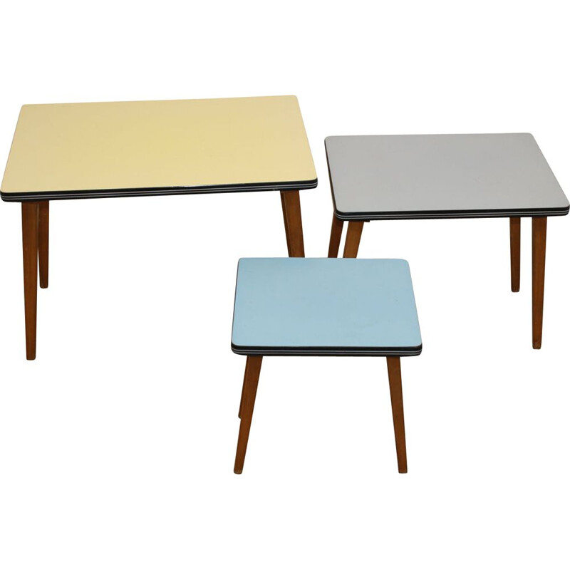 Vintage side tables in 3 colors