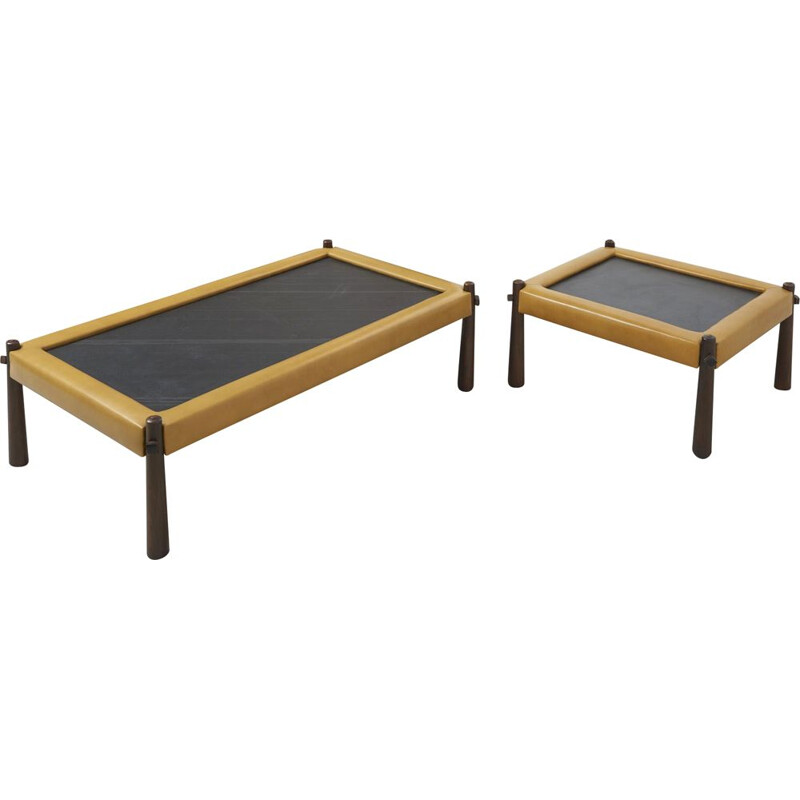 Pair of Low Tables by Percival Lafer Brazilian 1960s