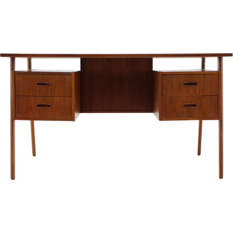 Vintage Teak Writing Desk Danish 1960s