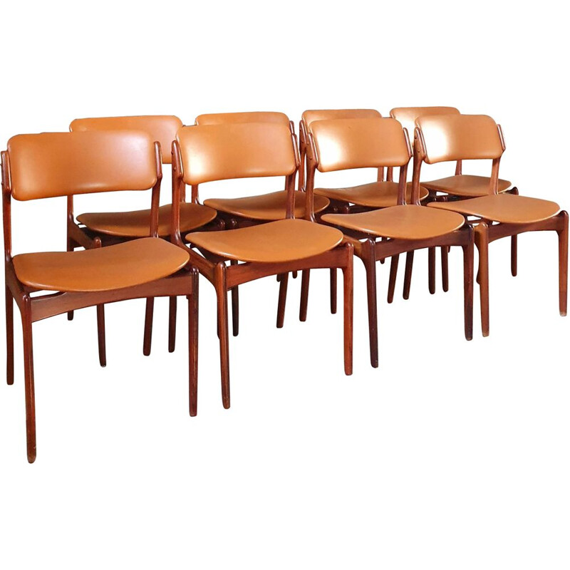 Set of 8 Vintage Rosewood Erik Buch Chairs For Od Møbler - Model 49 1960s