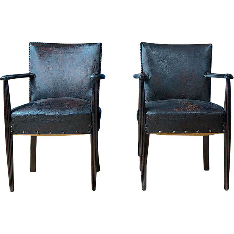 Pair of Vintage Louis XV Library Chairs 19th