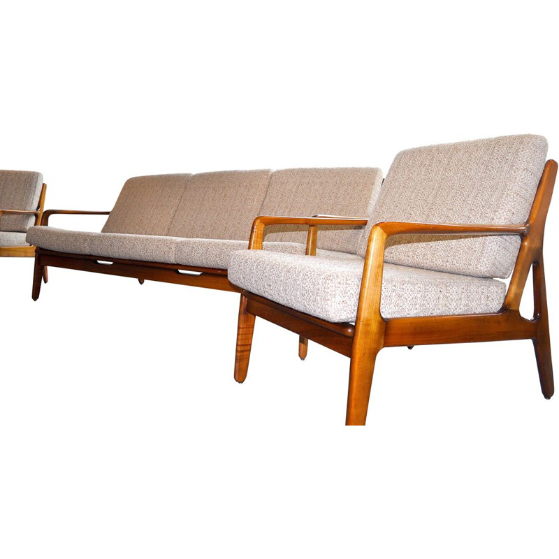 Vintage living room set by Arnne Vodder 1950 solid teak 3 pieces