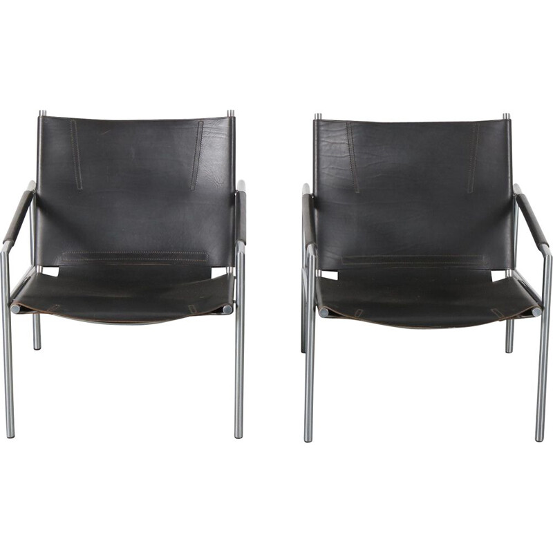 Pair of easy chairs by  Martin Visser for 't Spectrum in the Netherlands 1960s