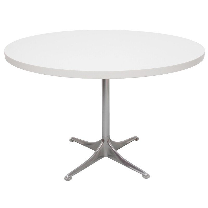 Round coffee table in white formica, Horst BRUNING - 1960s