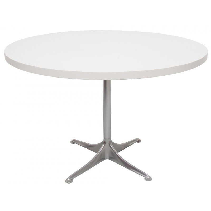Round Coffee Table In White Formica Horst Bruning 1960s