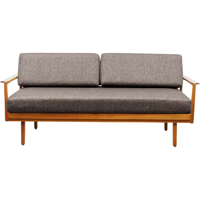 Vintage Sofa Knoll Antimott daybed, walnut 1960s
