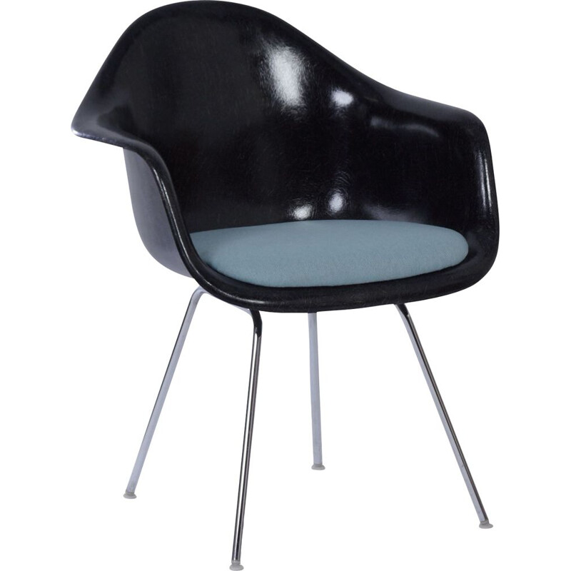 Vintage Black DAX Armchair by Charles and Ray Eames for Herman Miller, Fehlbaum 1970s