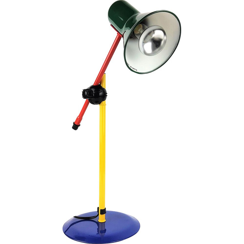 Vintage Multicolour Lamp in lacquered metal 1980