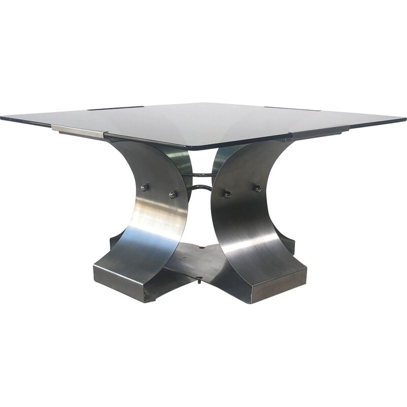 Vintage coffee table by François Monnet, 1970