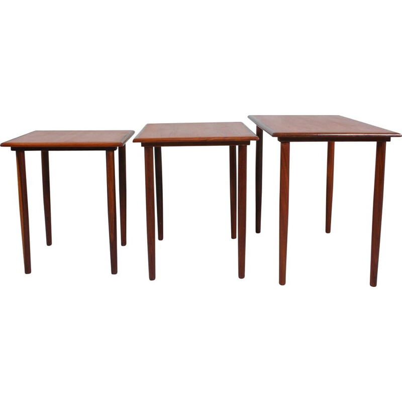 Set of 3 Vintage Nesting Tables Danish 1950s