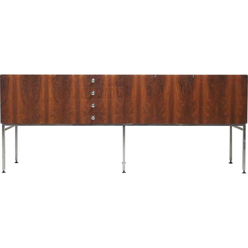 Vintage Large Sideboard in Rosewood by Alain Richard 1950s