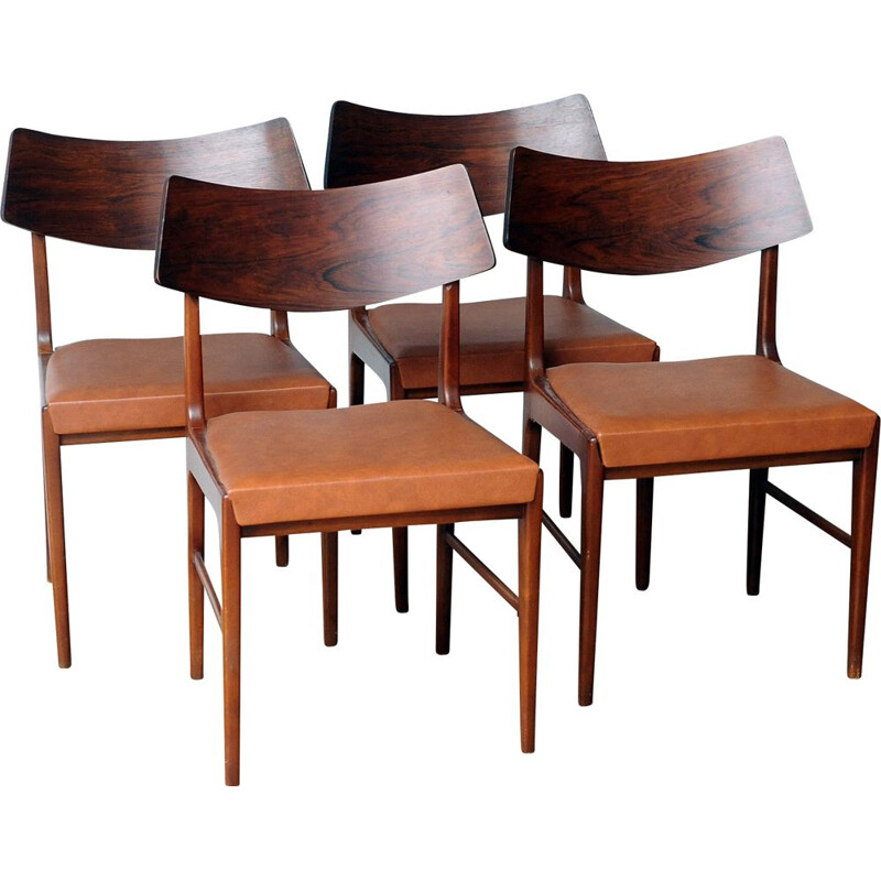 Set of 4 Vintage Rosewood Chairs 1960