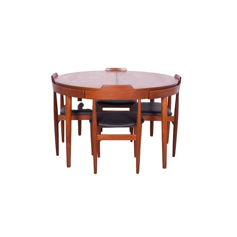 Set of  Dining Table and 4 Chairs Mid Century Teak by Hans Olsen for Frem Røjle, 1960s